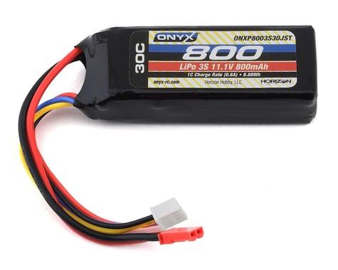 Onyx 11.1V 800mAh 3S 30C LiPo Battery 18AWG JST ONXP8003S30JST