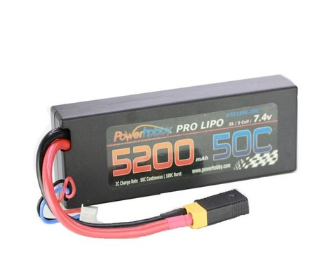 Power Hobby 5200mAh 7.4V 2S 50C LiPo Battery with XT60 PHB2S520050CXT60APT