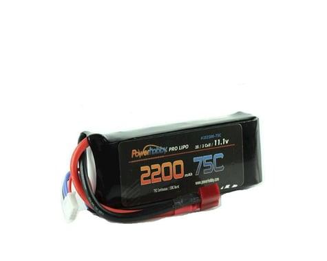 Power Hobby 3S 11.1V 2200MAH 75C LiPo Battery with Deans PHB3S220075CDNS