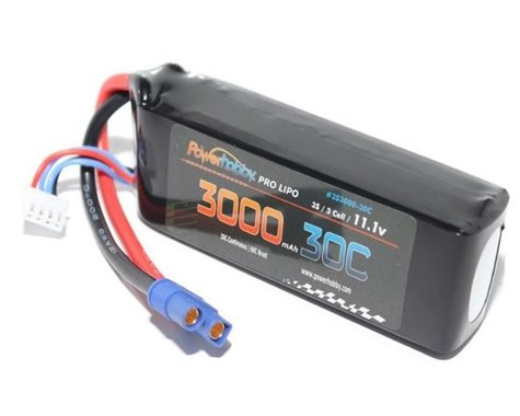 Power Hobby 3S 11.1V 3000mAh 30C LiPo Battery Pack with EC3 Connector PHB3S300050CEC3