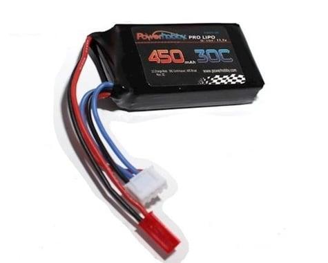 Power Hobby 3S 11.1V 450MAH 30C LiPo Battery with JST PHB3S45030CJST