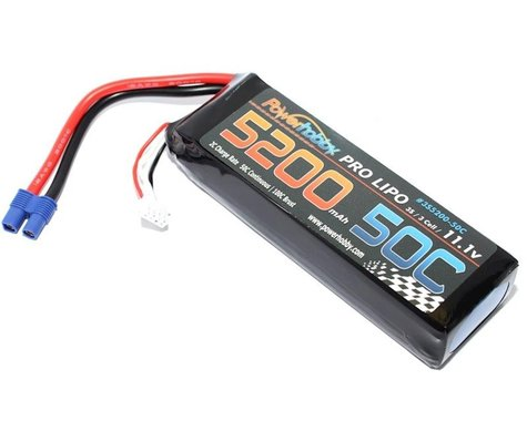 Power Hobby 3S 11.1V 5200mAh 50C LiPo Battery with EC3 Plug 3-Cell Hard Case PHB3S520050CEC3