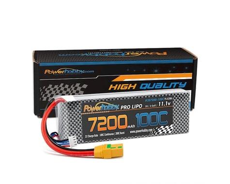Power Hobby 3S 11.1V 7200mAh 100C-200C LiPo Battery with XT90 Plug PHB3S7200100CXT90
