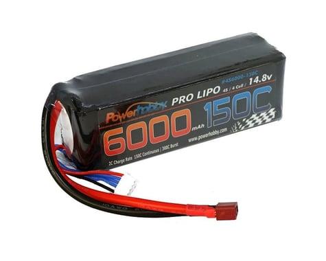 Power Hobby 4S 14.8V 6000MAH 150C-300C LiPo Battery with Extreme PHB4S6000150CXT90EX