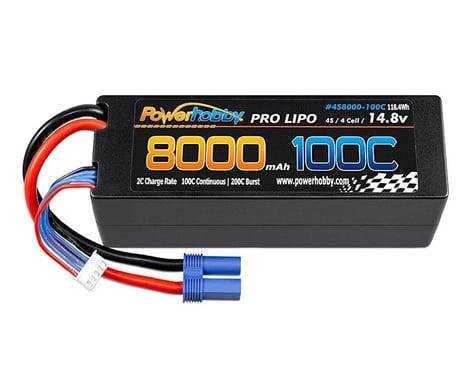 Powerhobby 4s 14.8V 8000MAH 100C Lipo Battery with EC5 Plug PHB4S8000100CEC5