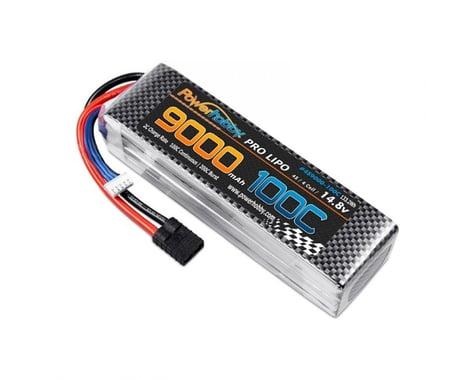 Powerhobby 4s 14.8V 9000MAH 100C Lipo Battery with TRX Plug PHB4S9000100CTRX