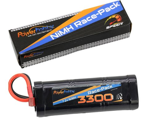 Power Hobby 7.2V 6-Cell 3300mAh NiMH Flat Battery Pack with Deans Plug PHBPH1504