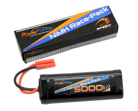 Power Hobby 7.2V 6-Cell 5000mAh NiMH Flat Battery Pack with RedCat 4.0 Plug PHBPH1509