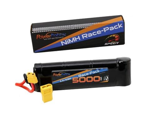 Power Hobby 8.4V 7-Cell 5000mAh NiMH Flat Battery Pack with XT60 & TRX HC Plug Adapter PHBPH1516