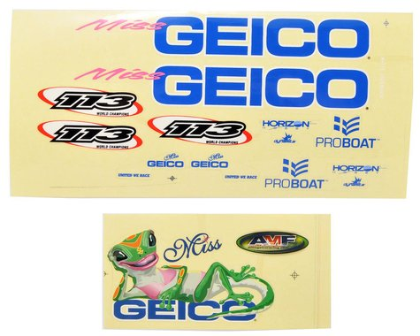 Pro Boat Decals Miss GEICO 17 PRB0304