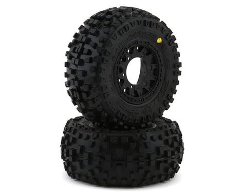 Pro Line Badlands SC All Terrain Tires Mounted on Raid Wheels PRO118210