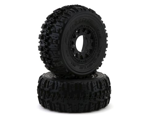 Pro Line Trencher X SC All Terrain Tires Mounted on Raid Wheels PRO119010