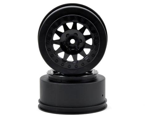 "Pro-Line F-11 +3 Offset 2.2""/3.0"" Black Wheels (2) SC Trucks Front/Rear PRO273903"