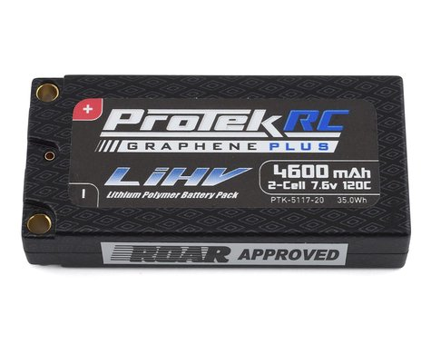 ProTek RC 2S 120C Low IR Si-Graphene + HV LCG Shorty LiPo Battery (7.6V/4600mAh)