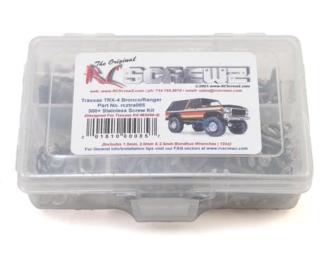 RC Screwz TRX 4 Bronco/Ranger Stainless Steel Screw Set RCZTRA085