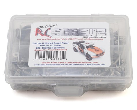 RC Screwz Ultimate Desert Racer Stainless Steel Screw Set RCZTRA086