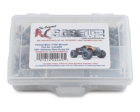 RC Screwz Stainless Steel Screw Kit Traxxas Maxx 1/10 Monster RCZTRA089