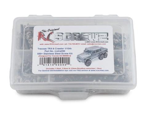 RC Screwz Stainless Steel Screw Kit 1/10 Traxxas TRX-6 Crawler RCZTRA090