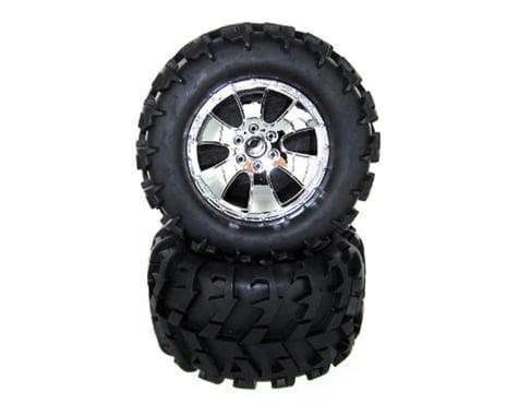 Redcat Racing V-Tread Wheels and Tires, Chrome (2PCS) REDBS904-015