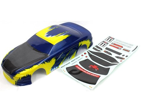 Redcat Racing Lightning 1/10 On-Road Car Body Blue Yellow RED12305