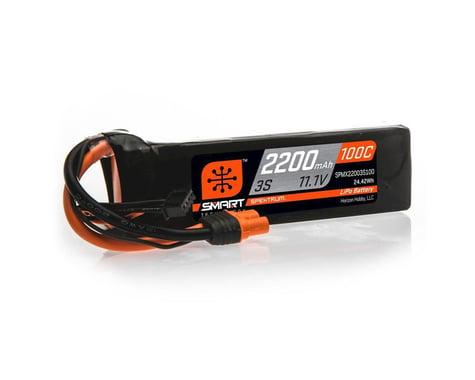 Spektrum 3S 11.1V 2200mAh 100C Smart LiPo Battery IC3 SPMX22003S100
