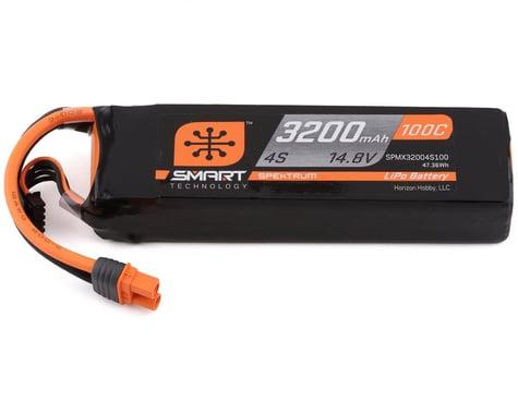 Spektrum 4S 14.8V 3200mAh 100C Smart LiPo Battery IC3 SPMX32004S100