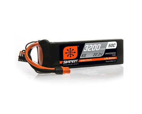 Spektrum 6S 22.2V 3200mAh 50C Smart LiPo Battery IC3 SPMX32006S50