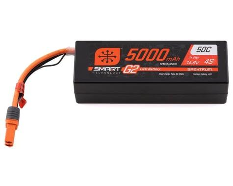 Spektrum 14.8V 5000mAh 4S 50C Smart LiPo G2 Hard Case for IC5 SPMX54S50H5