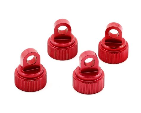 ST Racing Red CNC Aluminum Upper Shock Caps - Traxxas STRST3767R