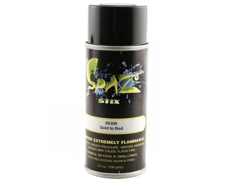 Spaz Stix Color Changing Paint Gold To Red Aerosol 3.5oz. SZX05309