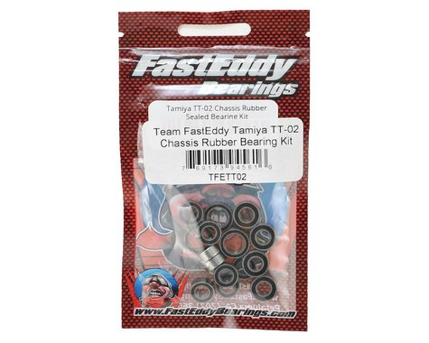 Team FastEddy Tamiya TT-02 Chassis Rubber Sealed Bearing Kit TFE411