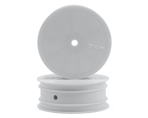 Team Losi Racing Front Wheel, 12mm Hex, White (2) for the 22 3.0 TLR43009