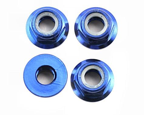 Traxxas Nuts Flanged Alum Blue Anodized 5mm (4) T-Maxx 2.5 TRA4147X