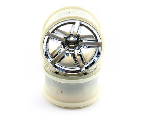 "Traxxas Rear Twin Spoke Wheel 2.8"" Chrome Jato (2) TRA5572"