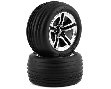 """Traxxas Front Twin Spoke Wheels 2.8"""" Chrome Jato (2) TRA5574"""