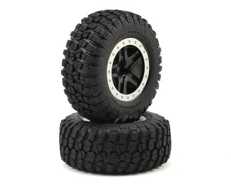 Traxxas Tire/Wheel Assy Glued Split Spoke Black (2) TRA5883
