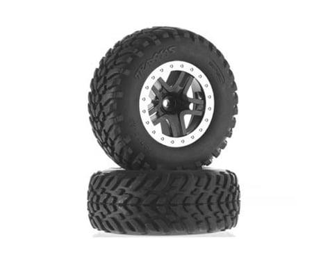 Traxxas Tire Wheel Assembled Glued SCT Split-Spoke Black TRA5890