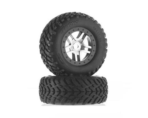 Traxxas Tire Wheel Assembled Glued SCT Split-Spoke Satin TRA5978