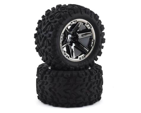 """Traxxas 2.8"""" Talon Extreme Tires & RXT Blk Chrome Wheels TRA6773X"""