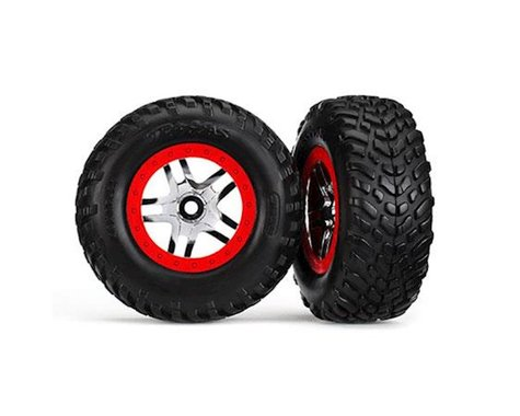 Traxxas SLH ULT VXL SCT Split Spoke Red Chrome Wheel (2) TRA6891