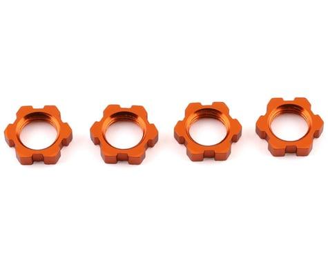Traxxas Splined Serrated 17mm Orange-Anodized Wheel Nuts (4) TRA7758T