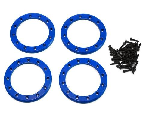 "Traxxas Aluminum 2.2"" Beadlock Rings Blue with 2x10 CS TRA8168X"