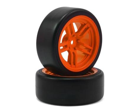 Traxxas 1.9 Mounted Drift Tires with Orange Split Spoke Wheels, Front TRA8376A