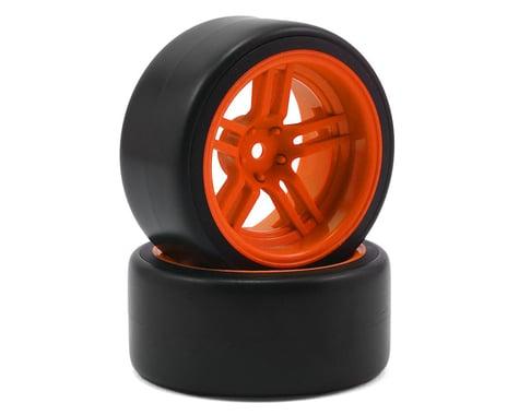 Traxxas 1.9 Mounted Back Drift Tires with Orange Split Spoke Wheels TRA8377A