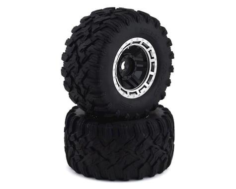 Traxxas Tires & Wheels Assembled Glued Black Satin Wheels (2) TRA8972X