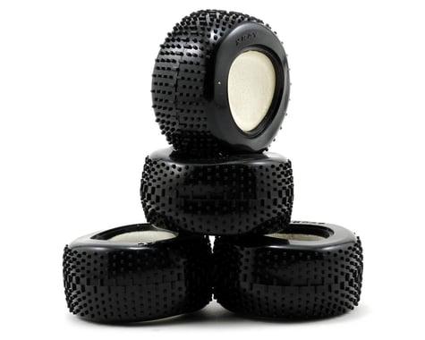 XRAY Pin Tire & Insert (M18T) (4) (Hard)
